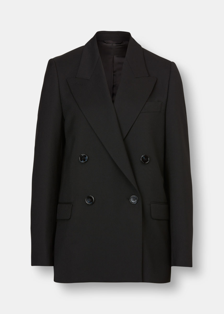 Janny Double-Breasted Suit Jacket Black