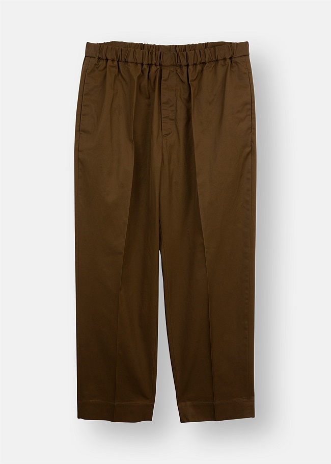 Cotton Elasticated Cropped Trousers