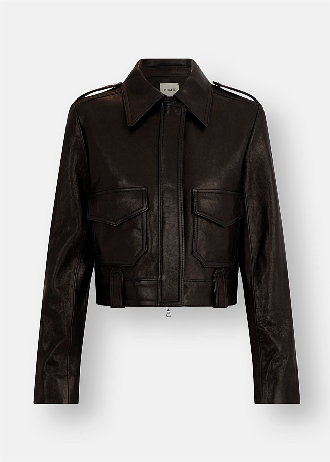 Cordelia Leather Moto Jacket