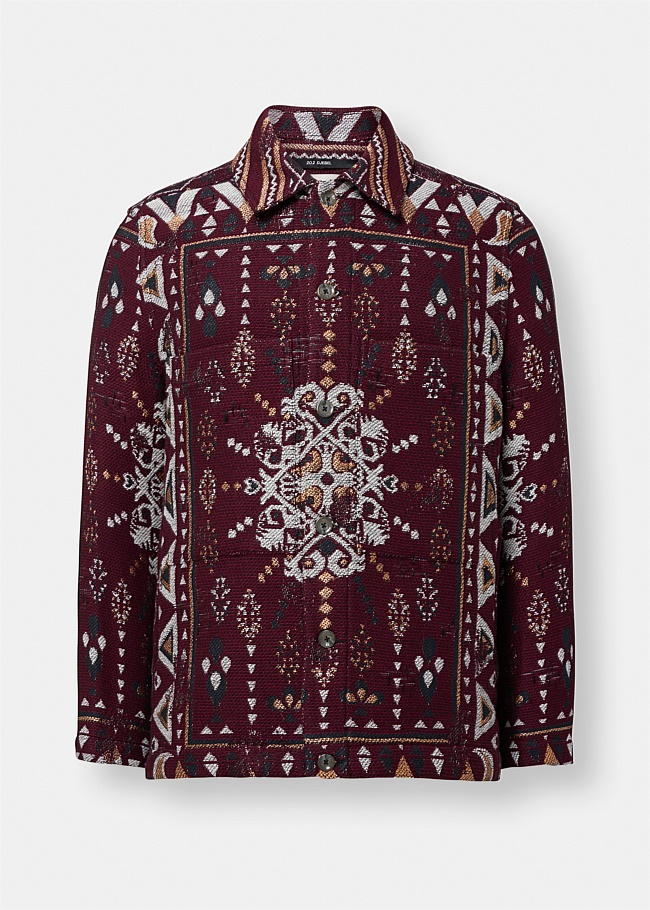 Tunnel Print Embroidered Jacket