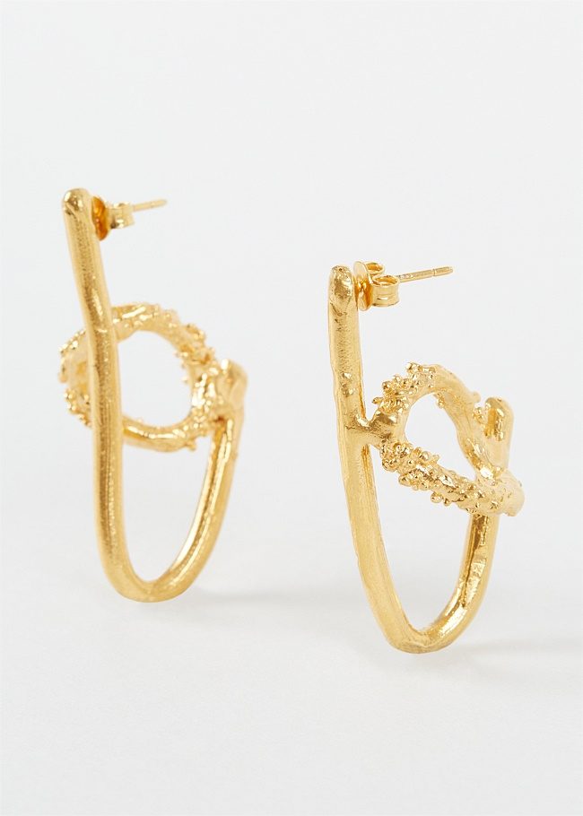 The Ancient Forest Gold-Plated Earrings