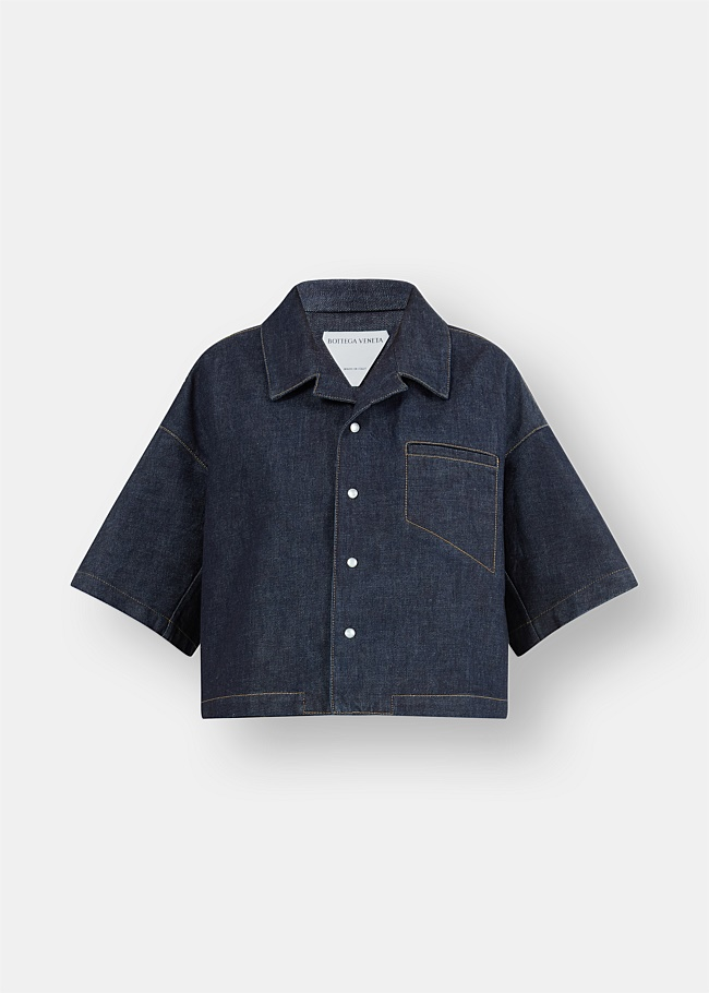 Boxy Cropped Denim Shirt