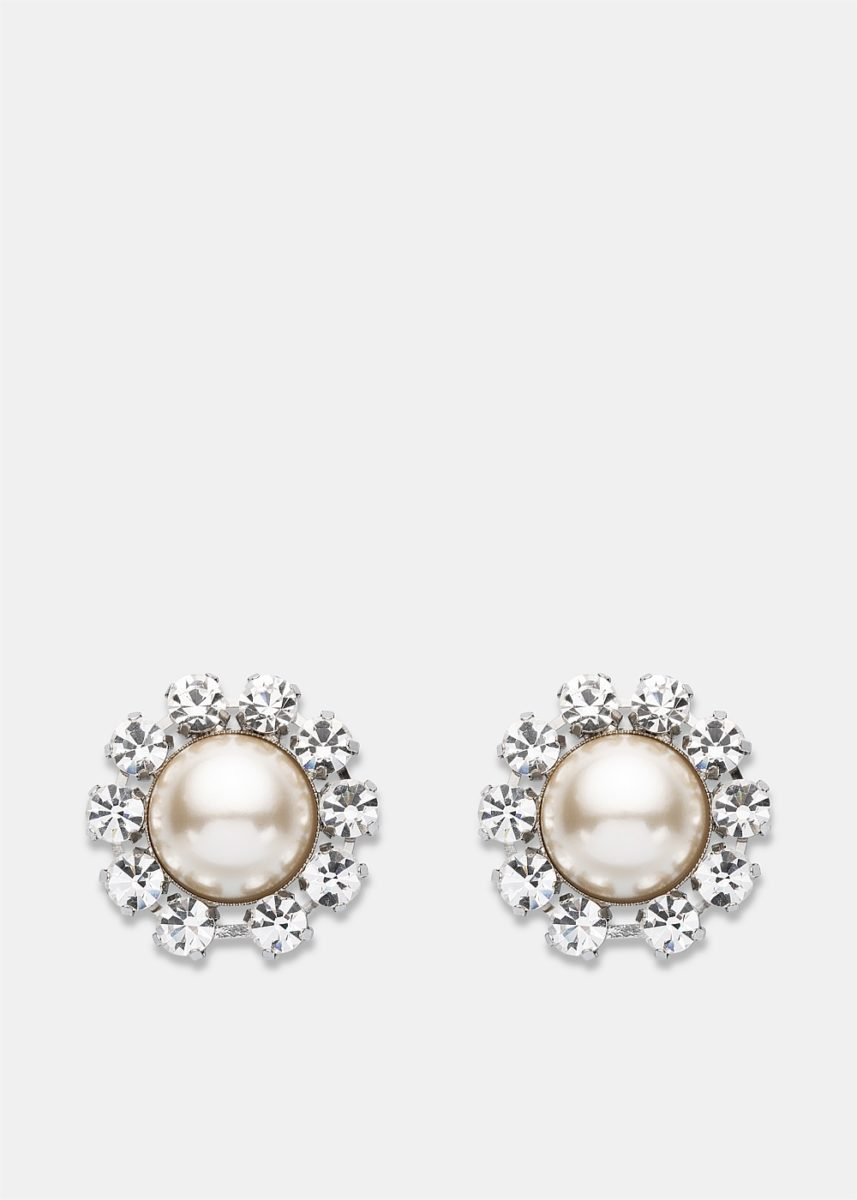 Crystal And Pearl Clip-On Earrings