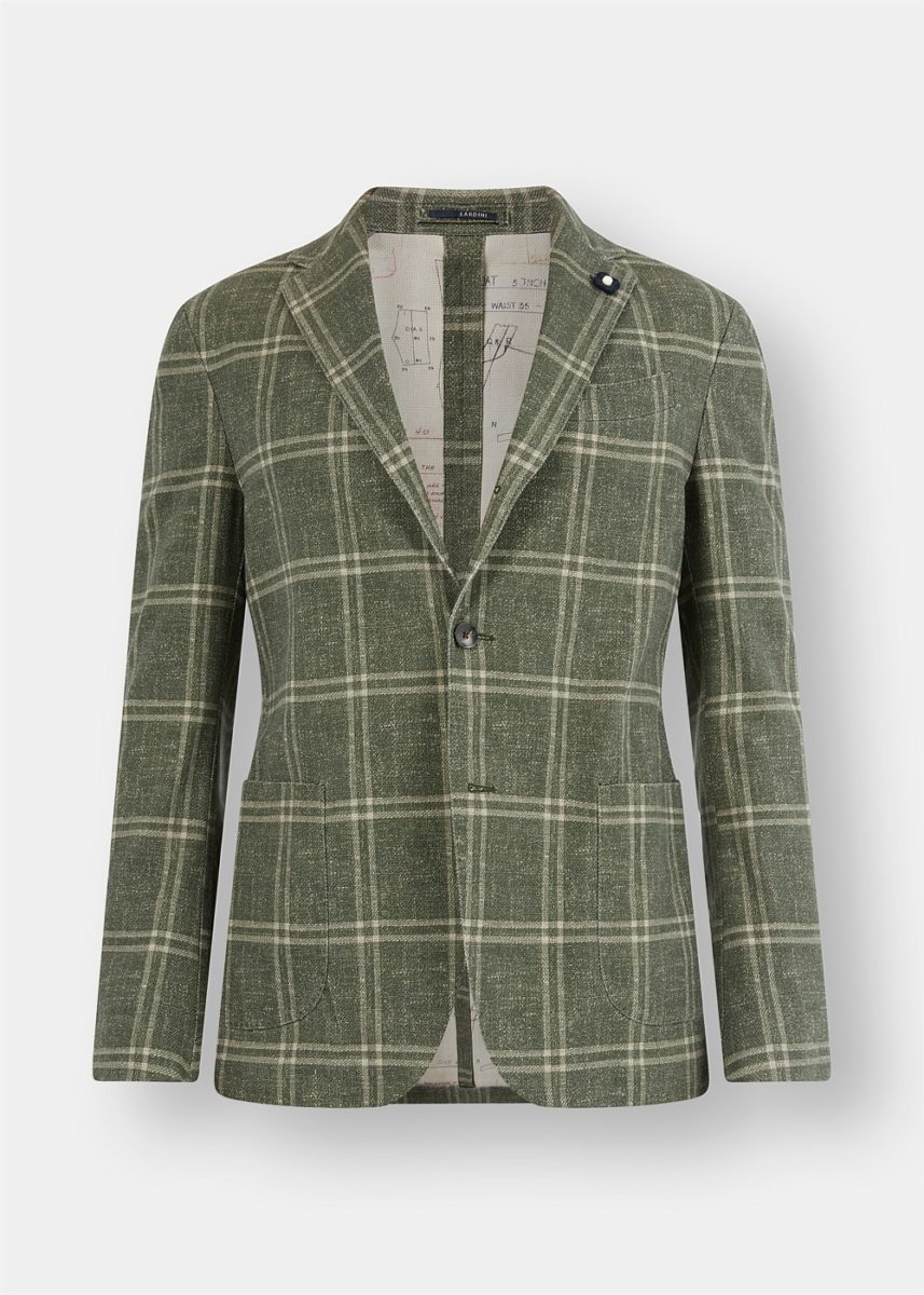 Green Checked Cotton Jacket