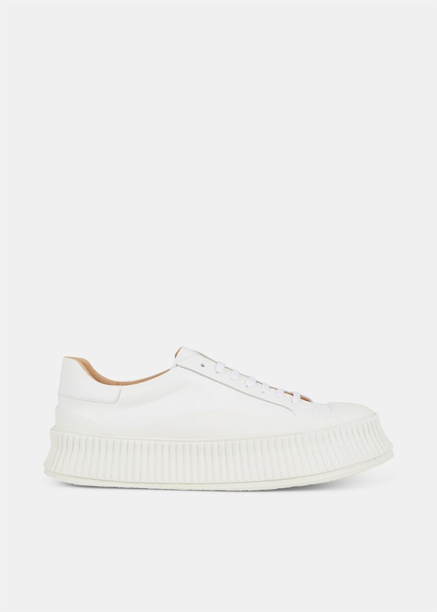 Ribbed Sole Platform Sneakers