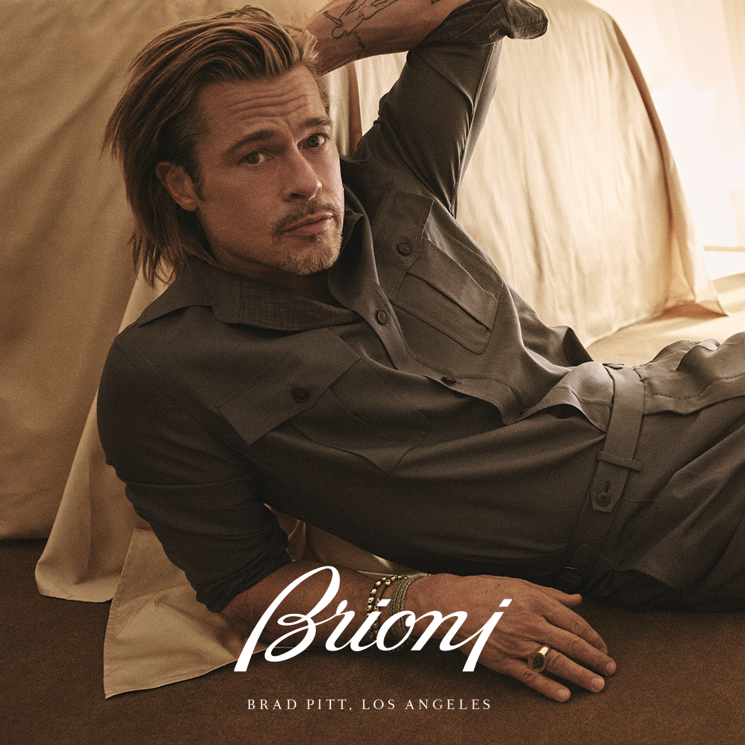 Brad Pitt's design debut with Brioni now at Harrolds